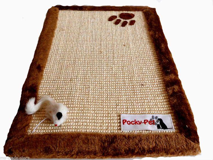 Pocky-Pet Mat Gratter Zéro Tapis Sisalmatte Sisal Jouet Pour Chat 55 x 35 cm ebay