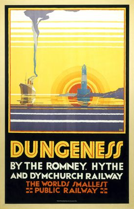 'Dungeness', Romney, Hythe and Dymchurch Railway poster, 1928., Cramer Roberts, N