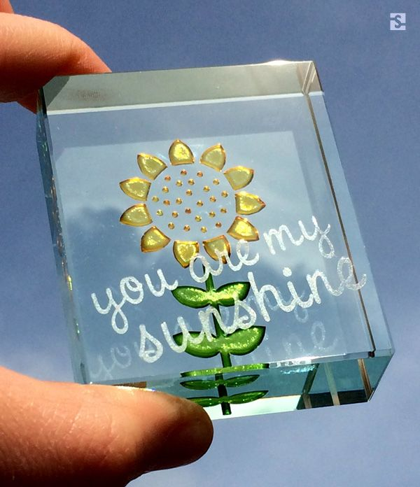 """You Are My Sunshine"" Sunflower Friendship Token by Spaceform"