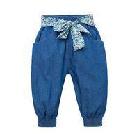 2016 Outono Calças Do Bebê Baby Girl Polka-dot Fita Calças Estilo Harém calças de Brim Do Bebê Menina Infantil Calças Jeans…