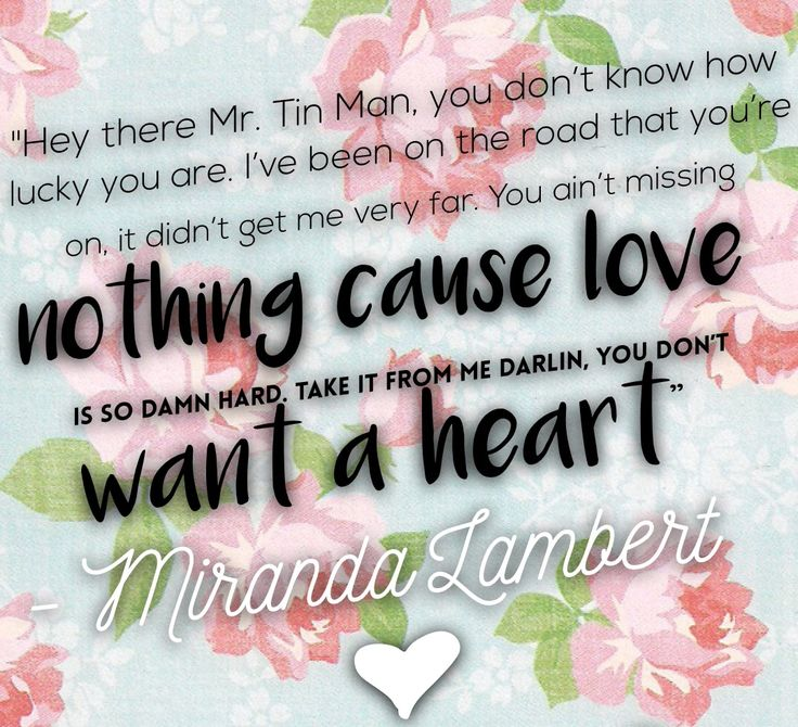 Tin Man by Miranda Lambert ❤️️
