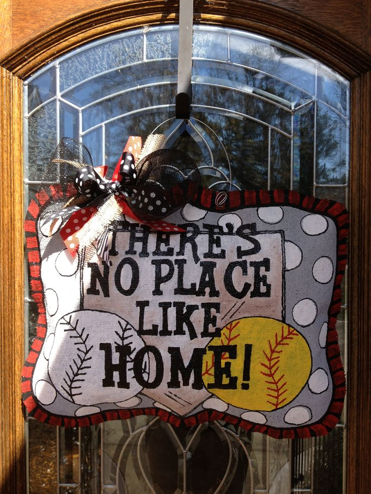 There's no place like HOME! Burlap hanger