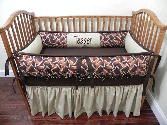Hey, I found this really awesome Etsy listing at http://www.etsy.com/listing/124739432/custom-crib-bedding-sports-football