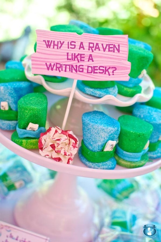 mad hatter hats - like the quote/question with the treats