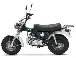"""Smooth Easy to Operate - Powerful MOTOR Mini Trail Sherpa 125 Motorcycle - Available Midnight Black. Message for Color Options: Black, Green. Model:Sherpa: 125 ST-125-11 - Bore and Stroke: 52.4 mm x 57 mm - Clutch: Multi Plate Wet Clutch - Compression Ratio: 9:1 - Engine:Four stroke 124cc SOHC air cooled. Ignition: Stator/ CDI with lighting coil - Starter: Electric & Kick - Transmission: 4 Speed Manuel Clutch. Curb Weight: 205 Lbs - Fuel Capacity: 3.8 L - Ground Clearance:8"""" - Overall..."""
