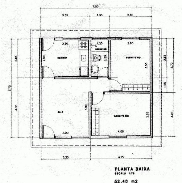 17 modelos de projetos de plantas de casas populares, que lhe ajudarão na elaboração da planta de sua casa própria. As plantas de casas populares são as mais buscadas por brasileiros.