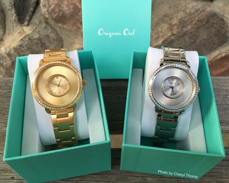 Silver or gold watches. Locket watch from Origami Owl.. Swarovski Crystal face. https://dreambig.origamiowl.com/ #jewelry #watches #crystals #gifts