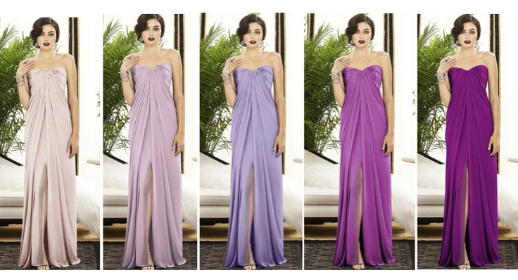 Lavender color palette ombre dresses http www for Purple ombre wedding dress