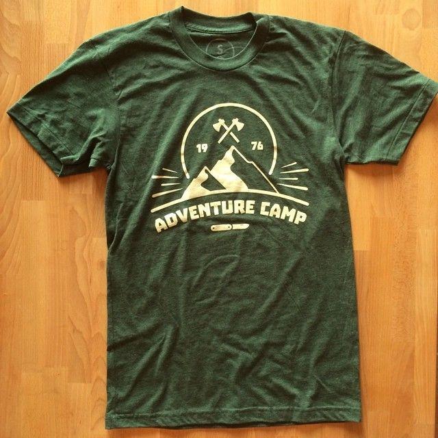 cotton bureau adventure camp axes hatchets design graphic design t