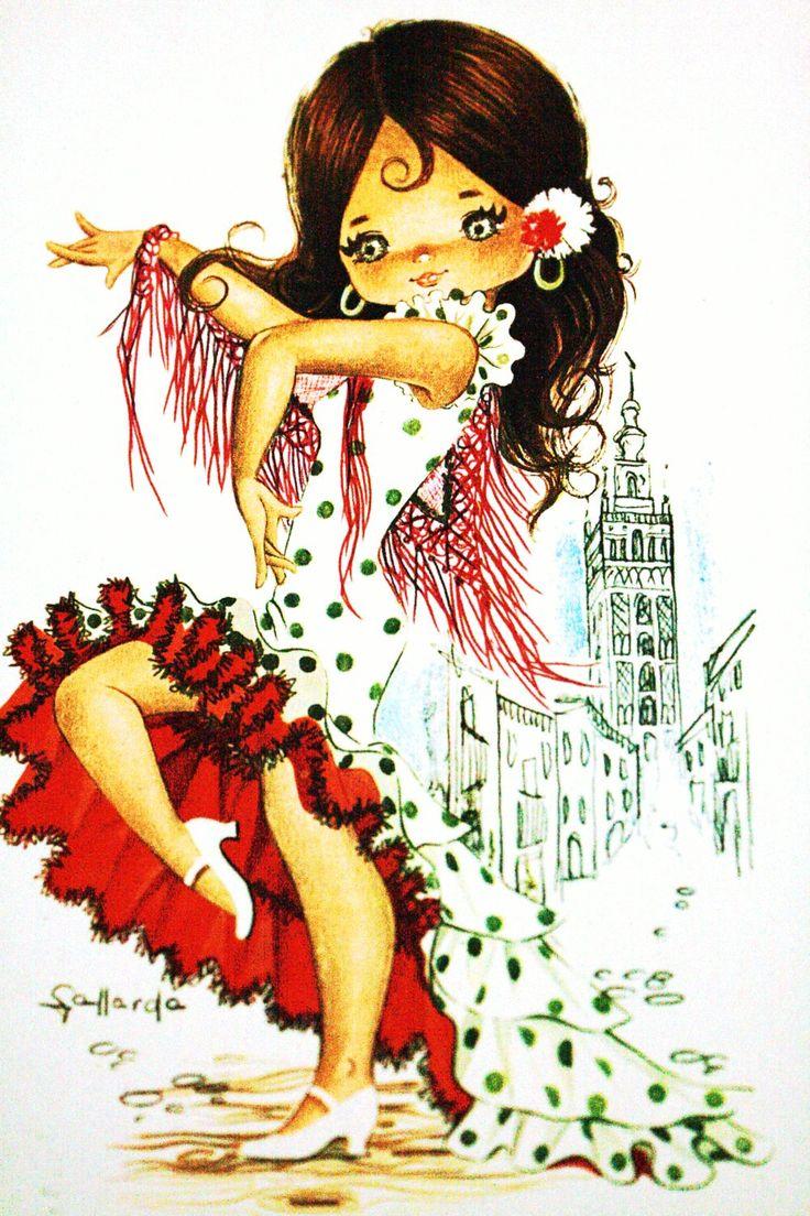 Vintage Spanish postcard by Gallarda