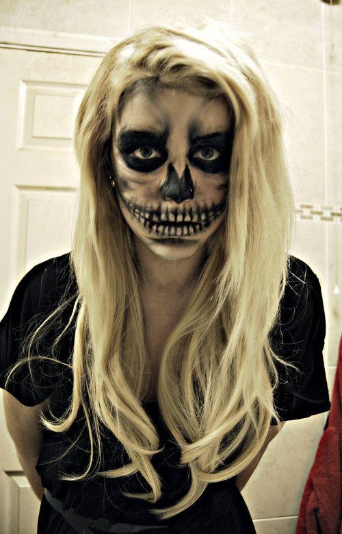 skull make up by ~charlotte-lucyy on deviantART