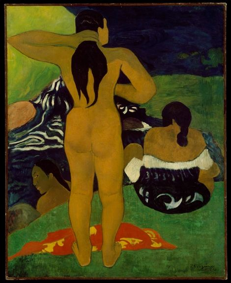 Paul Gauguin, Tahitian Women Bathing, 1910 on ArtStack #paul-gauguin #art