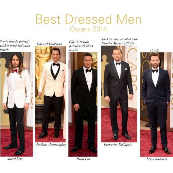 """""""Best Dressed Men at the Oscar Awards 2014"""" by arshdeep-sidhu on Polyvore"""