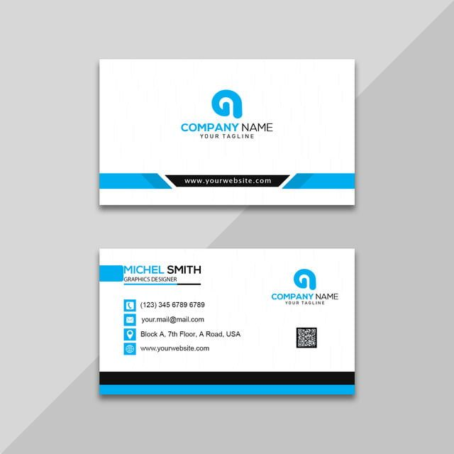 Desain Kartu Bisnis Biru Dan Putih Perusahaan Templat Untuk Unduh Gratis Di Pngtree Kartu Kartu Nama Biru Dan Putih