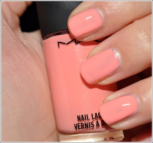 Anybody know the name of this MAC peach colored nail polish.