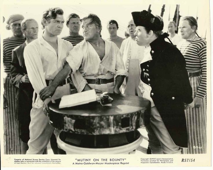 """Clark Gable and Charles Laughton in """"Mutiny on the Bounty"""""""