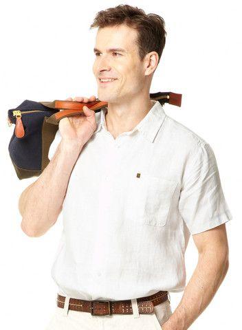 Mens Linen Short Sleeved Shirt | Travel Clothing | Gerald Webster
