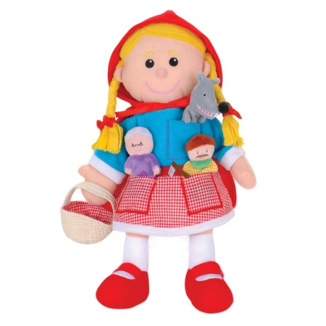 DAY 4 FIND: Look at this little miss - she was hiding Day 4's Easter Egg. Fiesta Craft's Red Riding Hood hand puppet also has finger puppets so you can tell the whole story #Fiestacrafts #puppet #win # Easter