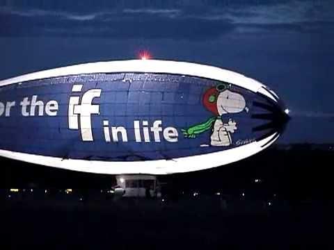 MetLife Snoopy Blimp Night N' Day