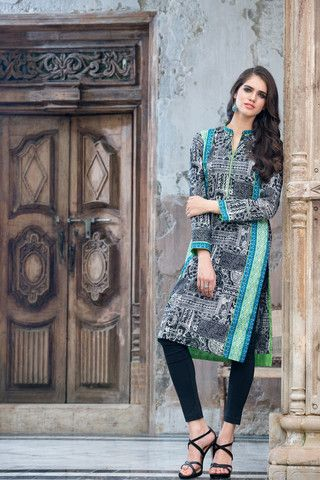 Gul Ahmed Winter Black & White Suits  2015 For Women