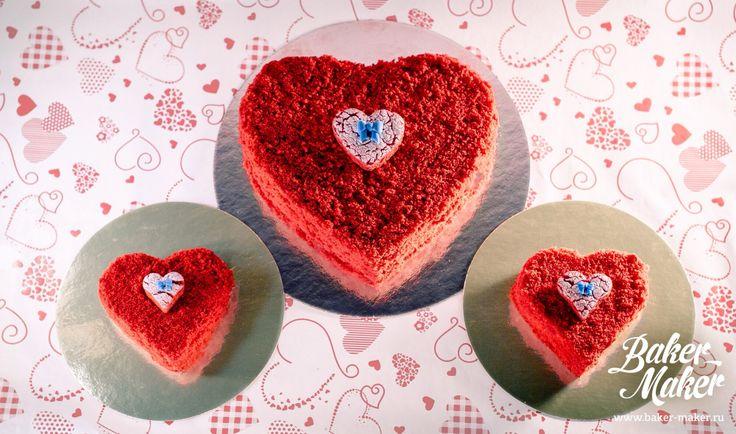 """Торт """"Красный бархат""""      воздушный сливочный бисквит со вкусом шоколада, слоями нежнейшего крема маскарпоне и легким ароматом ванили и вишни"""