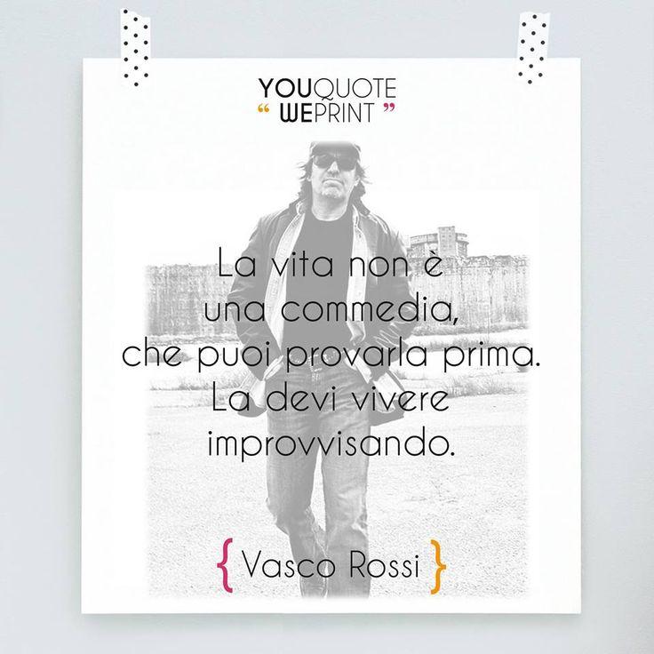 #VascoRossi icona del #rock italiano, non è solo un grande cantante. Infatti con i suoi #testi ha ispirato e fatto innamorare tantissime generazioni. Se siete suoi fan cosa aspettate ad #arredare casa con le sue #parole e le sue #citazioni? Rendete speciale la vostra #casa su You Quote We Print