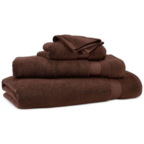 """Lauren Ralph Lauren Wescott 30"""" x 16"""" Hand Towel ($20) ❤ liked on Polyvore featuring home, bed & bath, bath, bath towels, artist brown, brown hand towels, lauren ralph lauren bath towels, brown bath towels and lauren ralph lauren"""