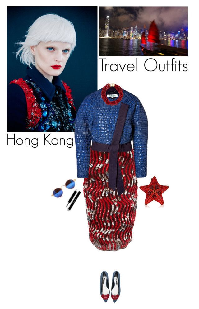 """Hong Kong"" by helena99 ❤ liked on Polyvore featuring GUINEVERE, Peter Pilotto, Kenzo, Kenneth Jay Lane, Judith Leiber, National Geographic Home and Alice + Olivia"