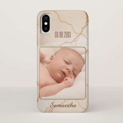 Personalized Rose Gold Veined Photo Phone Case - baby gifts child new born gift idea diy cyo special unique design