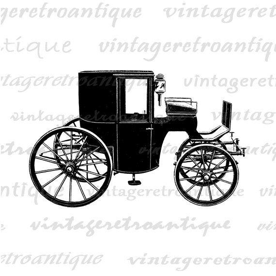 Antique Automobile Car Buggy Image Graphic by VintageRetroAntique
