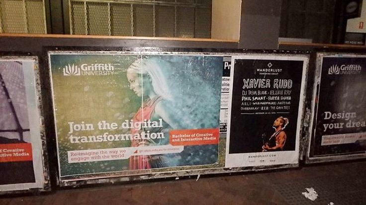 Spotted among Fortitude Valley's famous street posters, is the latest in our creative and digital course offerings: Bachelor of Creative and Interactive Media.