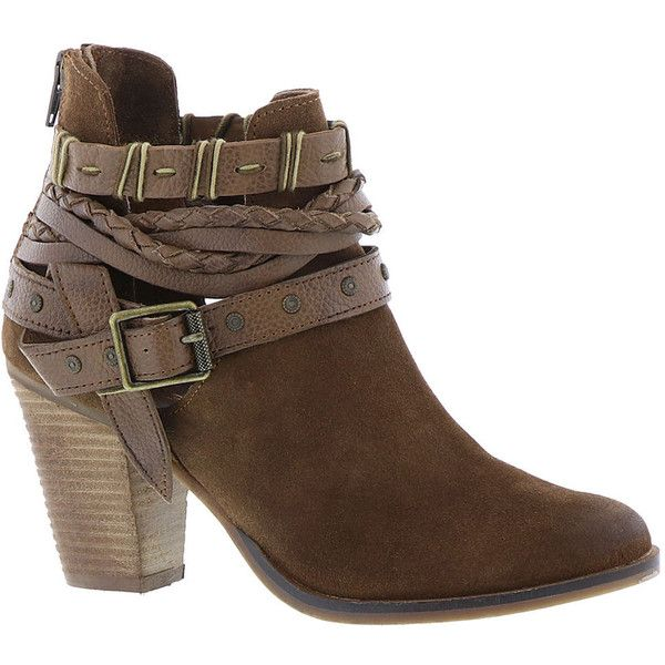 Naughty Monkey Cuthbert Women's Tan Boot ($110) ❤ liked on Polyvore featuring shoes, boots, ankle booties, ankle boots, tan, tan ankle boots, short boots, naughty monkey booties, high heel ankle boots and zip ankle boots