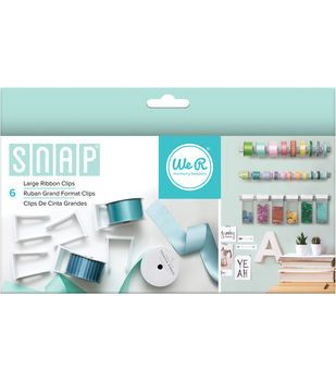 We R Memory Keepers™ Snap Storage 6ct Large Ribbon Clips