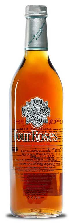 """This fine Bourbon, sometimes known as """"Four Roses Platinum"""" due to the color of the flagship roses molded into the bottle, was indeed something special as it is not available in the U.S. Although distilled in the same distillery in Lawrenceburg, KY as all other Four Roses Bourbons, it is one of two created and marketed solely for the Japanese market (the other being """"black label"""")."""