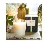 Nest Woodland Truffle Candle  This unique fragrance combines the woody essences of a lush forest where luxurious truffles grow. French truffle and black pepper are blended with rich notes of oakmoss, cedar and vetiver.