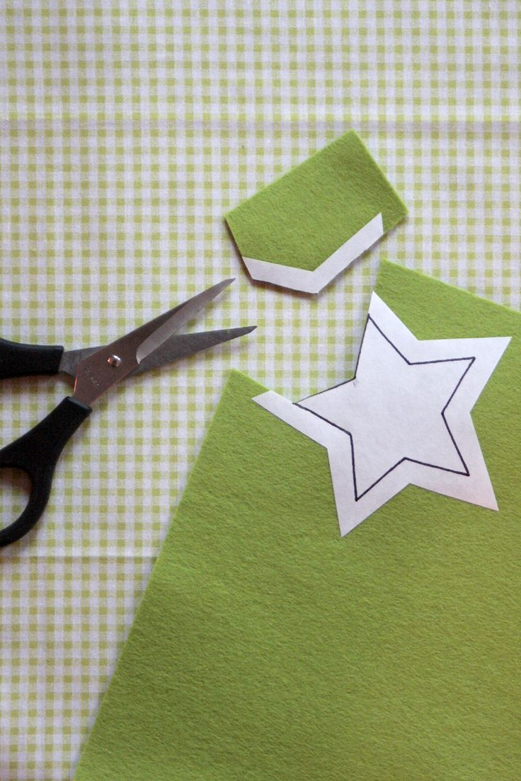 tip for cutting out felt patterns: iron freezer paper template to felt, cut out the piece, peal off the paper.