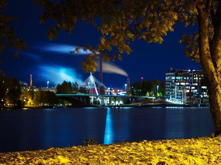 Syksyinen Hatanpää. Tampere centrum photographed from Hatanpää.