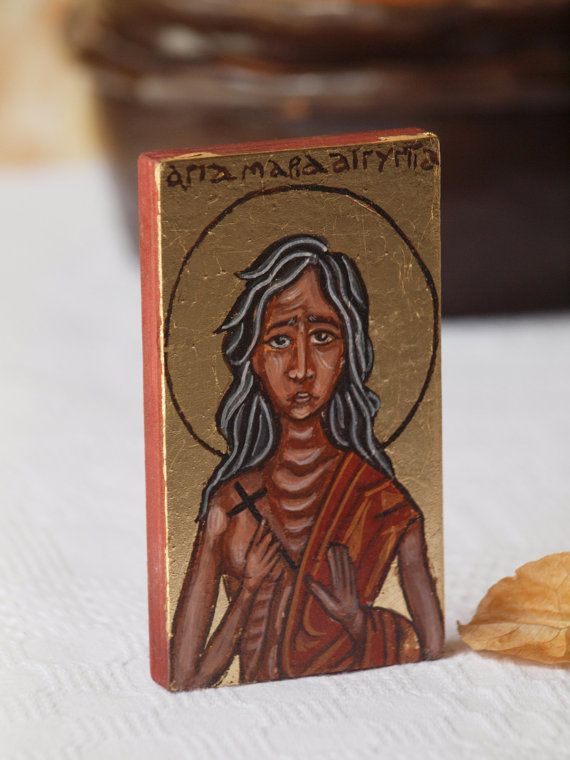 St. Mary of Egypt  Miniature  Maria Aegyptica hermit by angelicon, €18.00