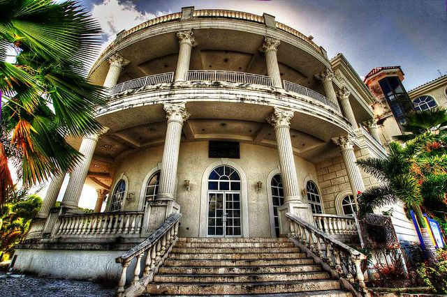 Abandoned casino Jolly Harbour in Antigua.