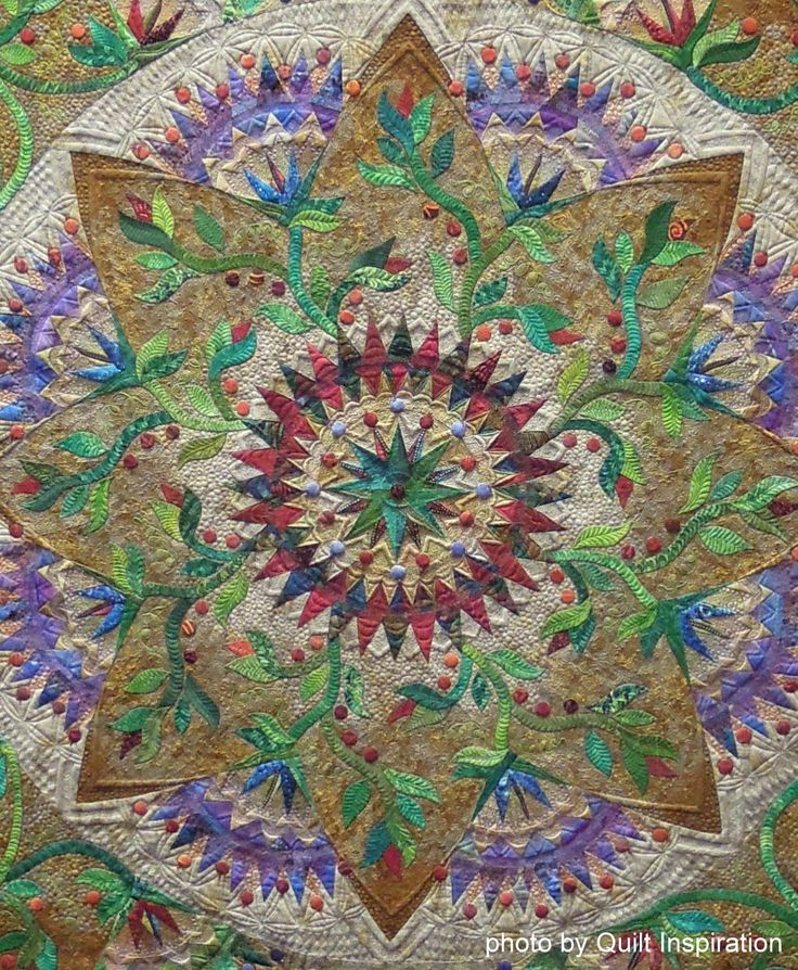 Best of Show:  Exuberance by Marilyn Badger, 2014 PIQF, closeup photo by Quilt Inspiration