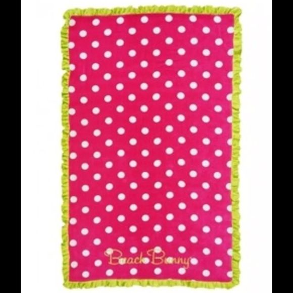 ⛱ NWT Beach Bunny  XL Polka Dot Towel‼️ Gorgeous NEW beach bunny towel! Discontinued & no longer available! A must for any Beach Bunny collector! OPEN TO OFFERS as long as they're not low ball I'll consider it! Beach Bunny Other