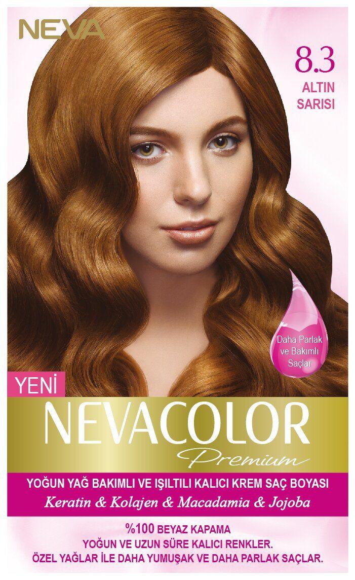 Neva Color Premium Sac Boyasi 8 3 Altin Sarisi Kolajen Sac