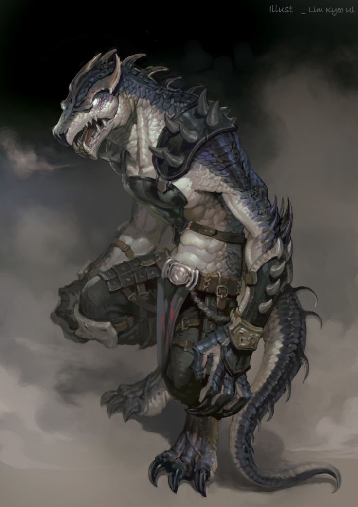 """cyrail: """"meninfantasyart: """" Lizzardman by NESSI + """" Featured on Cyrail: Inspiring artworks that make your day better """""""