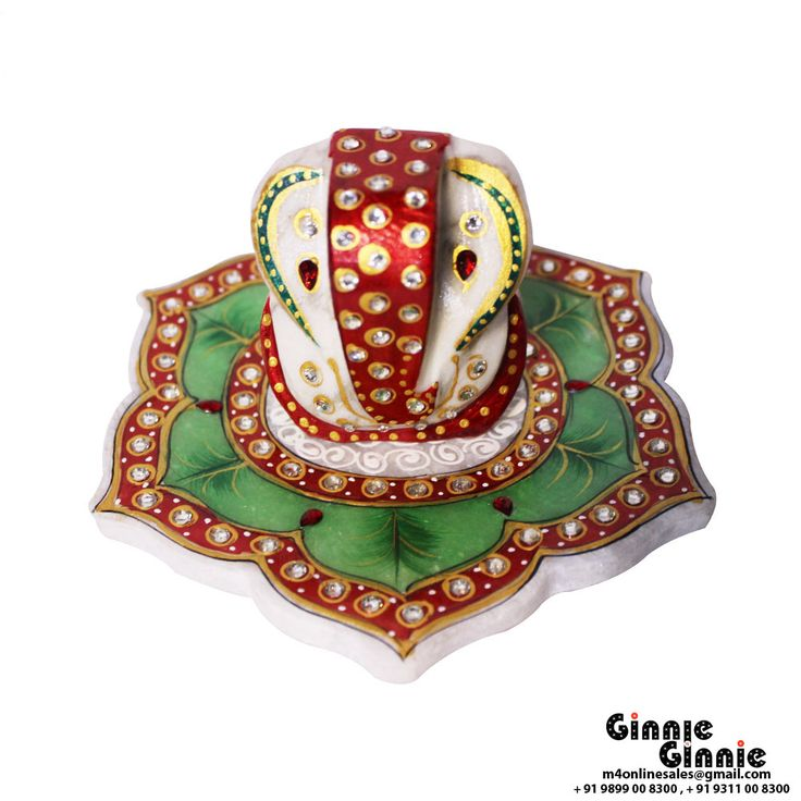 This Ginnie & Ginnie Exclusive Marble star Ganesh is a product from our Statue & Sculptures Collection. It is made of Marblestone and it got Meenakari finish on it. Its approx LxWxH is 6x6x3 inches. It is of approx 680 grams. Unique Code of this product is M400414.06