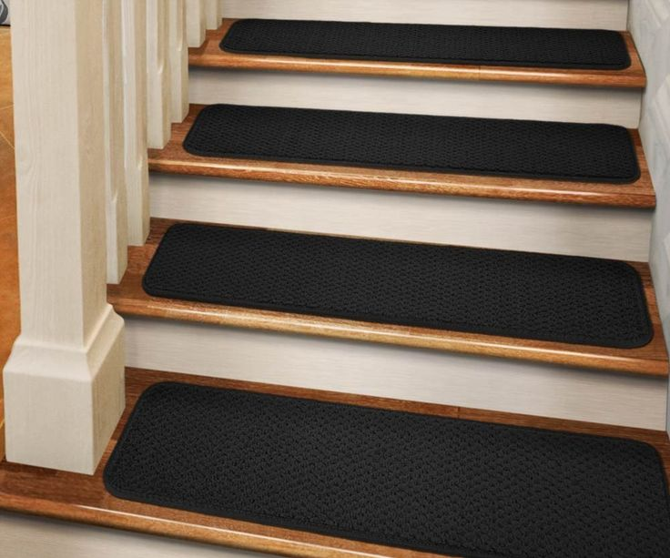 Best Set Of 15 Tape Down Carpet Stair Treads Black With Images 640 x 480