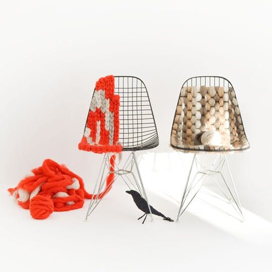 Modern Gone Cozy: A Knitted Eames Chair