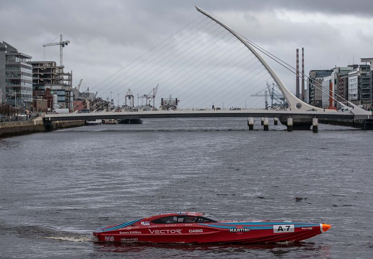 Vector Martini on the Liffey with the Samuel Beckett in the background | Venture Cup Race
