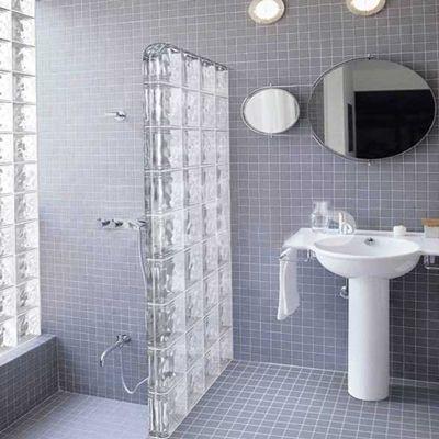 Visuel Brique De Verre Neutre Moduver U2013 Ondulée Ou Lisse   Pose Rapide Et  Facile. | DECO | Bathroom, Glass Block Shower Et Ensuite Bathrooms