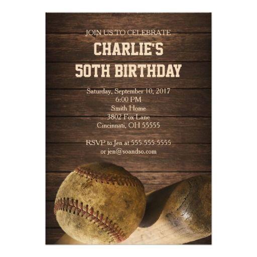 423 best baseball birthday party invitations images on pinterest baseball birthday party invitation rustic vintage stopboris Choice Image