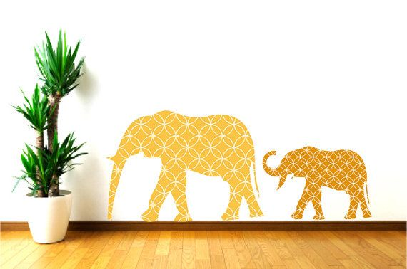 Nursery Mother and Baby Elephant Wall DecalsBaby Room